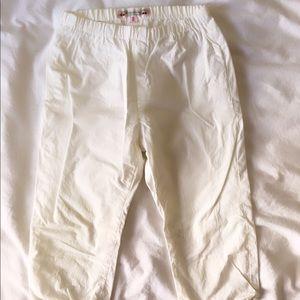 Silk white pants